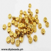 Letter Beads  (Round Flat #8mm )